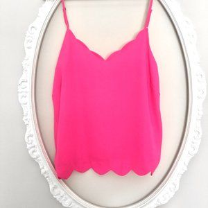 Love Tree (LA) bright pink scalloped camisole tank